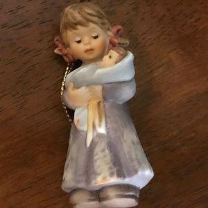 Hummel figurine little girl with baby, vintage